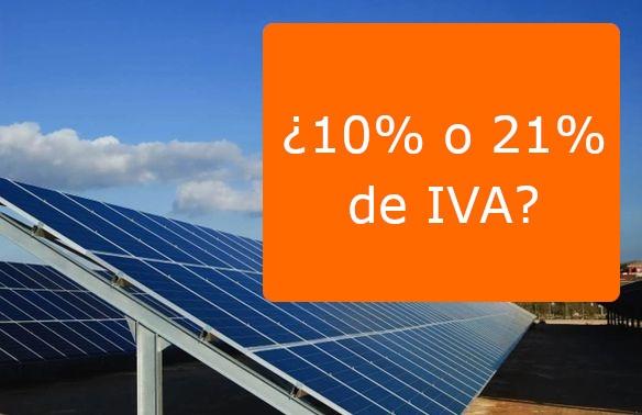 Qué IVA llevan las placas solares